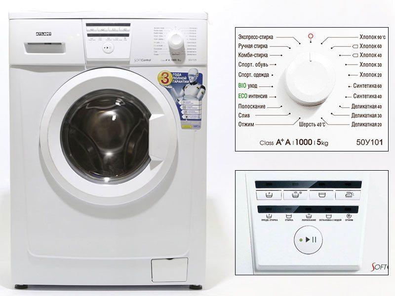 Узкая фронтальная стиральная машина ATLANT 50У101