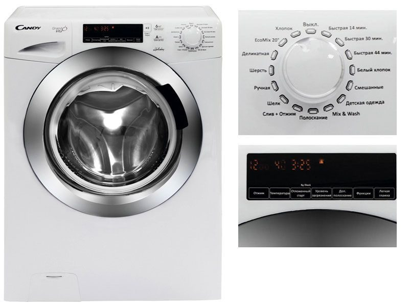 Фронтальная стиральная машина Candy GV34 126TC2