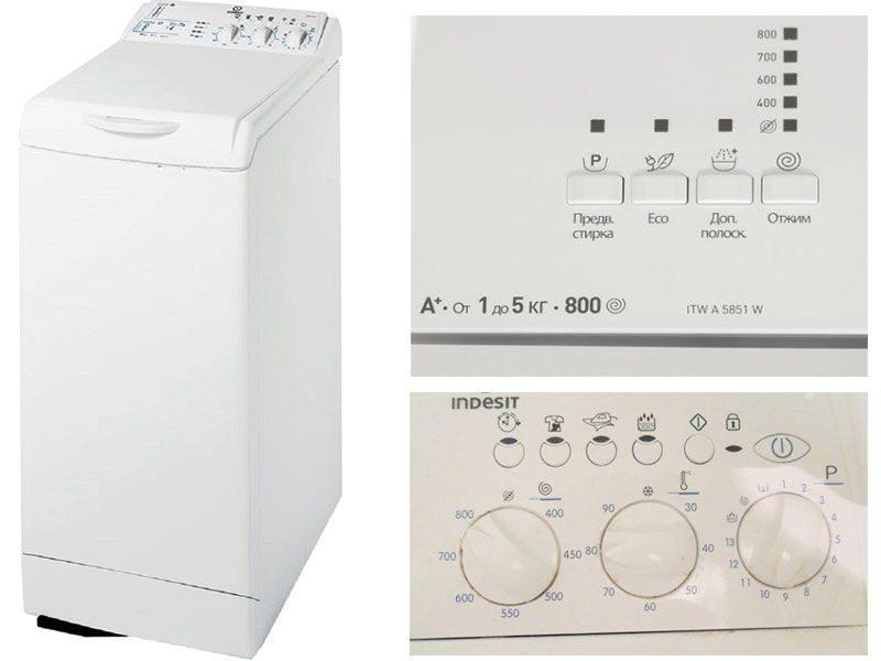 Вертикальная стиральная машина Indesit ITWA5851W
