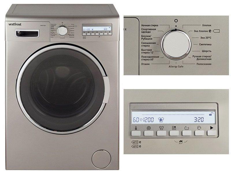 Профессиональная фронтальная стиральная машина Vestfrost VFWM 1250 X