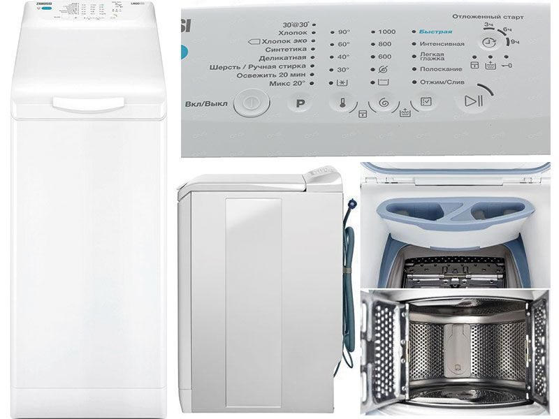 Вертикальная стиральная машина Zanussi ZWY 51004 WA