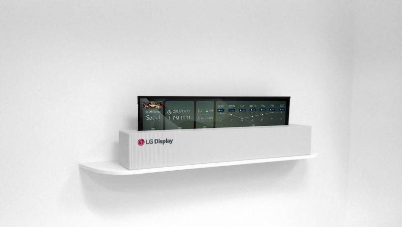 Скручиваемый телевизор LG UHD RollableOLED