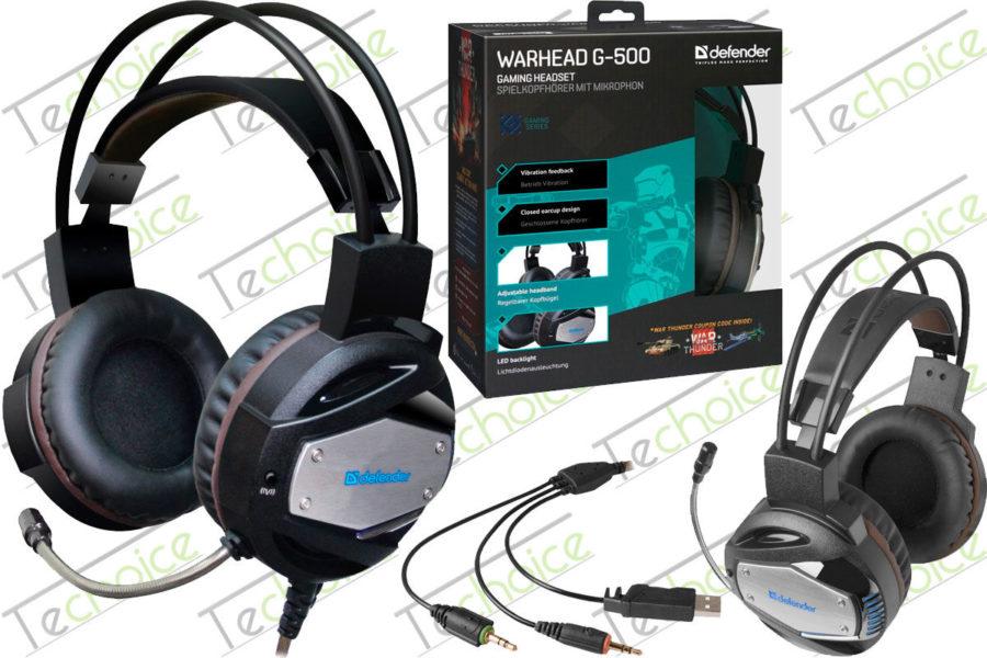 Бюджетная игровая гарнитура Defender Warhead G-500