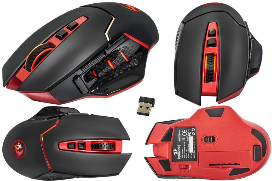 Беспроводная геймерская бюджетная мышь Defender Redragon Mirage