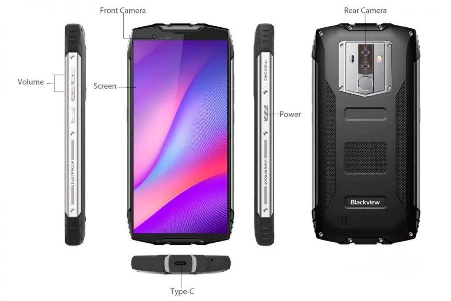 Смартфон с большим аккумулятором Blackview BV6800 Pro