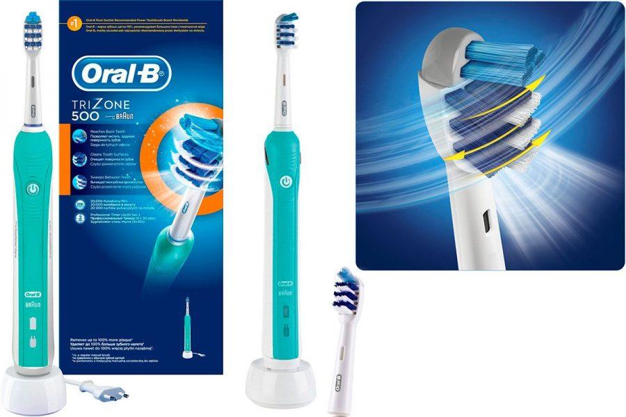 Возвратно-выметающая зубная щетка Braun Oral-B Trizone 500 D16