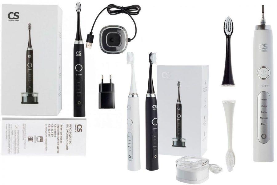 Звуковая электрическая зубная щетка CS Medica Sonic Pulsar CS-333