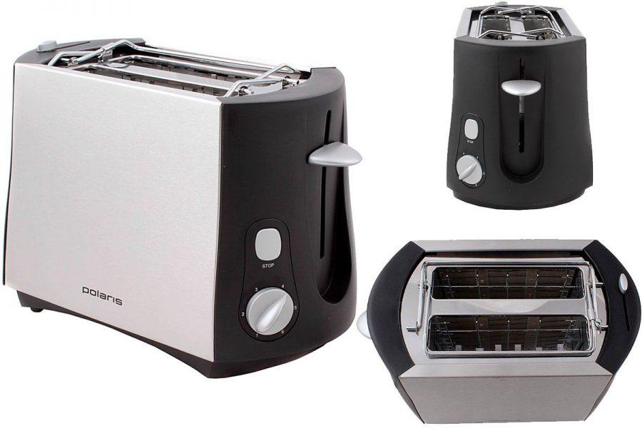 Бюджетный добротный тостер Polaris PET 0804A
