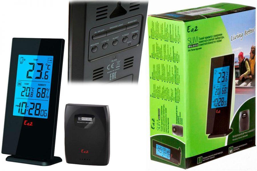 Бюджетная цифровая бытовая метеостанция Ea2 BL502