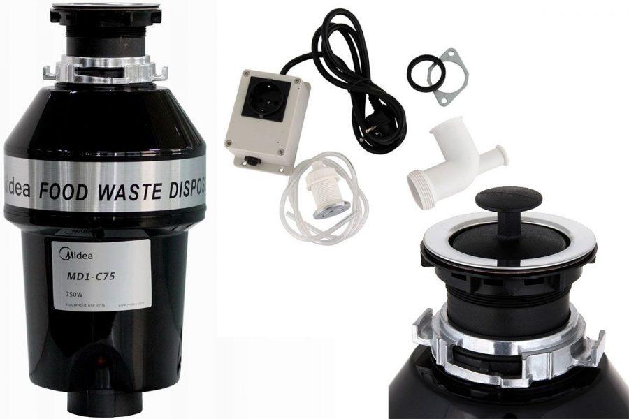 лучший бытовой измельчитель отходов Midea MD1-C75