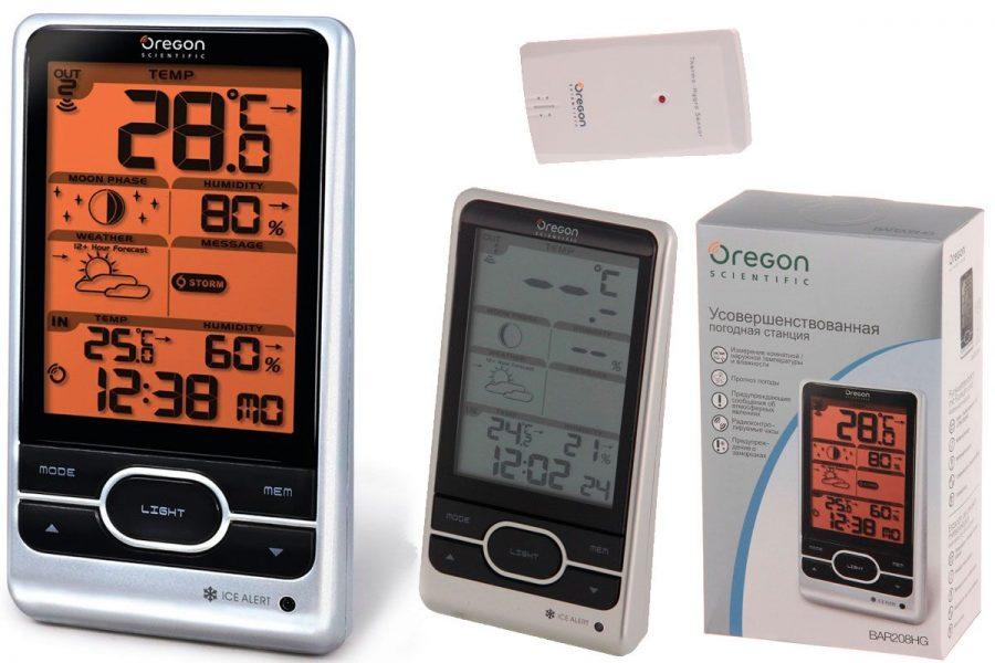 Качественная цифровая бытовая метеостанция Oregon Scientific BAR208HG