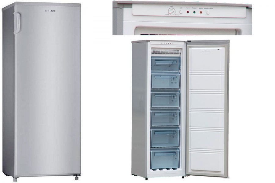 Бюджетный но-фрост морозильный шкаф Shivaki FR-1701NFS