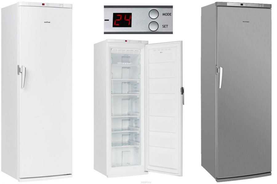Хороший морозильный шкаф но-фрост Vestfrost VF 391 WGNF