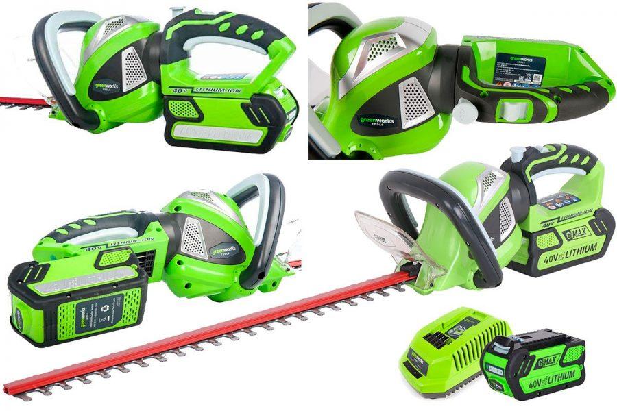 Аккумуляторный кусторез Greenworks G40HT61K2