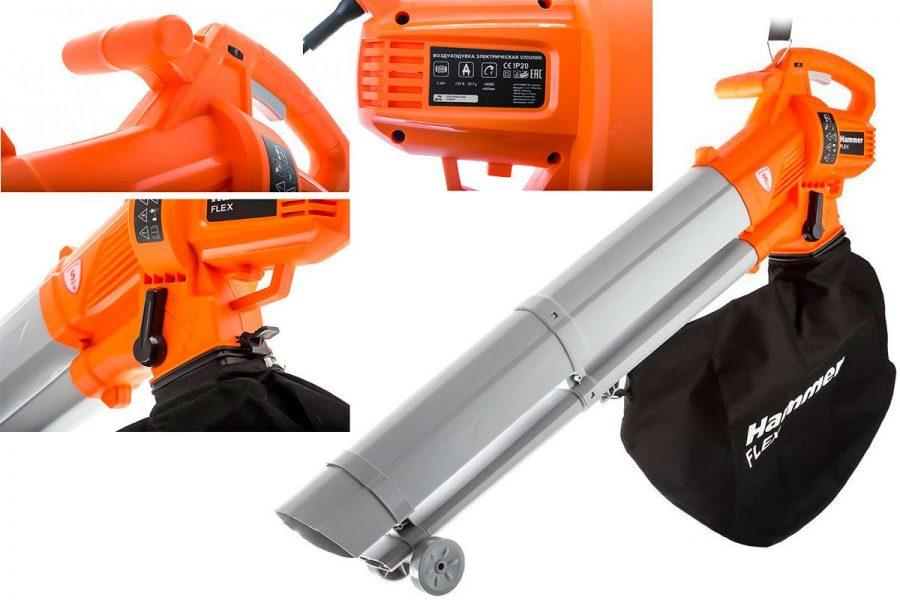 Садовая воздуходувка-пылесос Hammer VZD2000