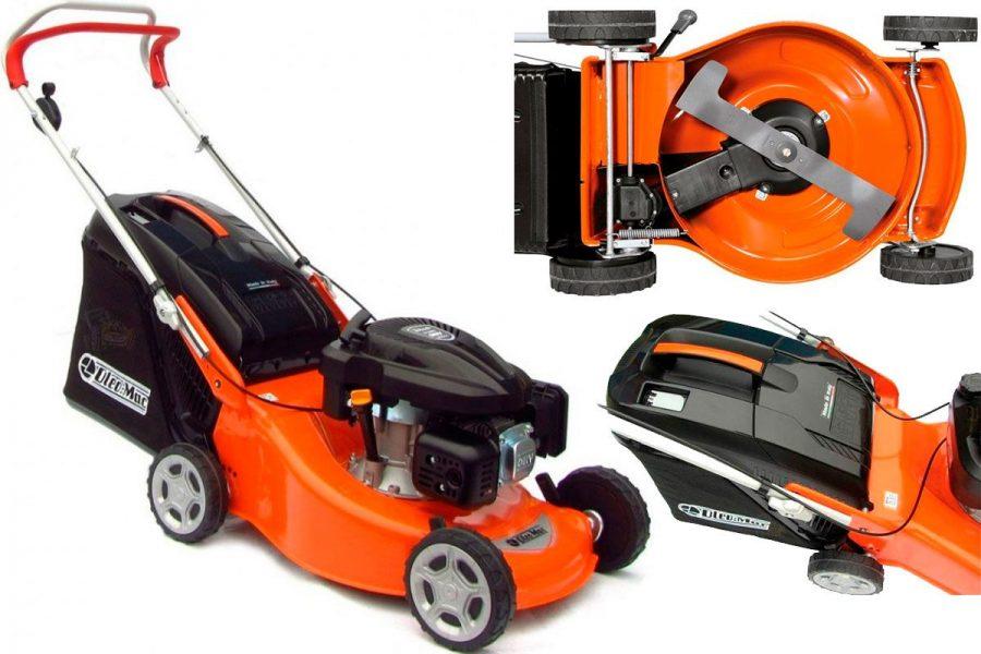 Лучшая бензиновая несамоходная газонокосилка Oleo-Mac G 48 PK Comfort Plus