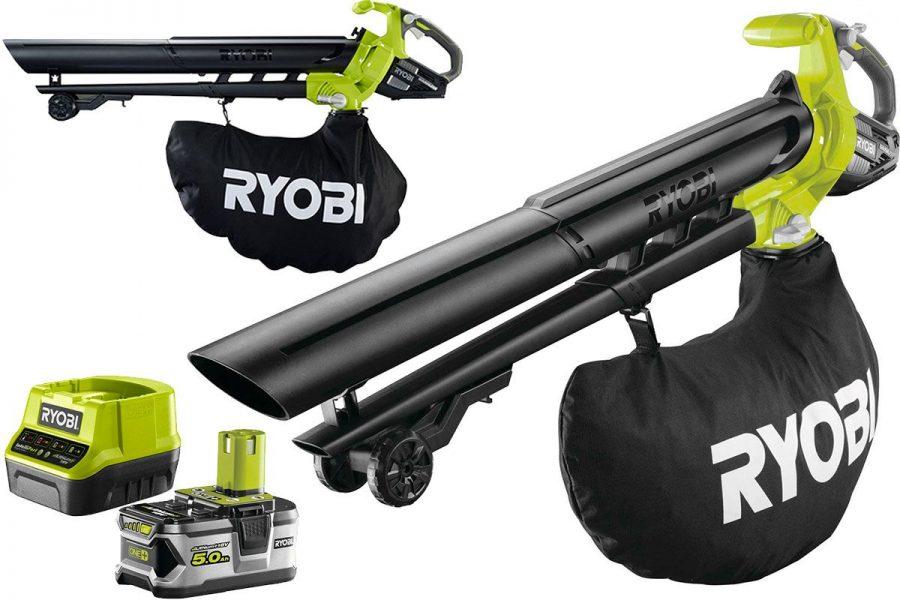 Садовая аккумуляторная воздуходувка-пылесос Ryobi OBV18