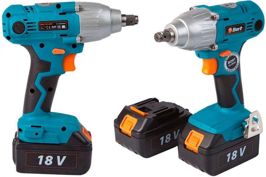 Бюджетный аккумуляторный гайковерт Bort BAB-18I-LIDK