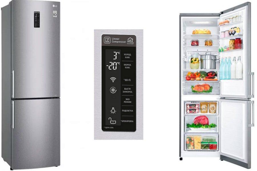 Холодильник LG с нижней морозилкой GA-B499 YMQZ