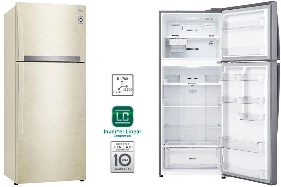 Холодильник LG с верхней морозилкой GC-H502HEHZ