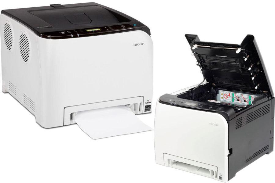 Хороший домашний лазерный цветной принтер Ricoh SP C260DNw