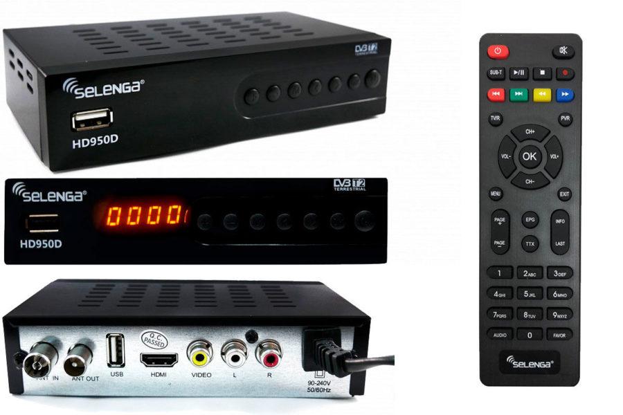 Бюджетный ТВ-тюнер Selenga HD950D