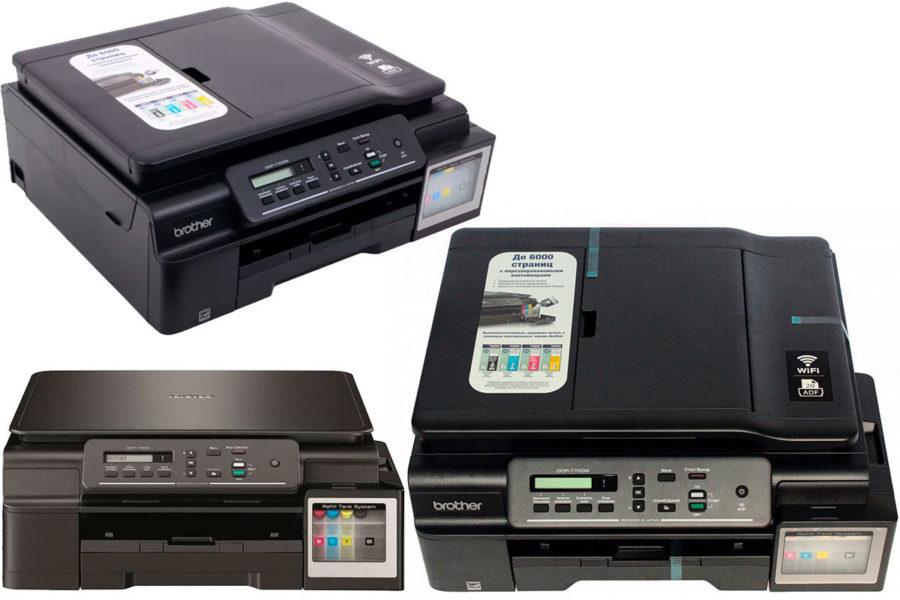 Лучший МФУ-фотопринтер для дома Brother DCP-T700W InkBenefit Plus