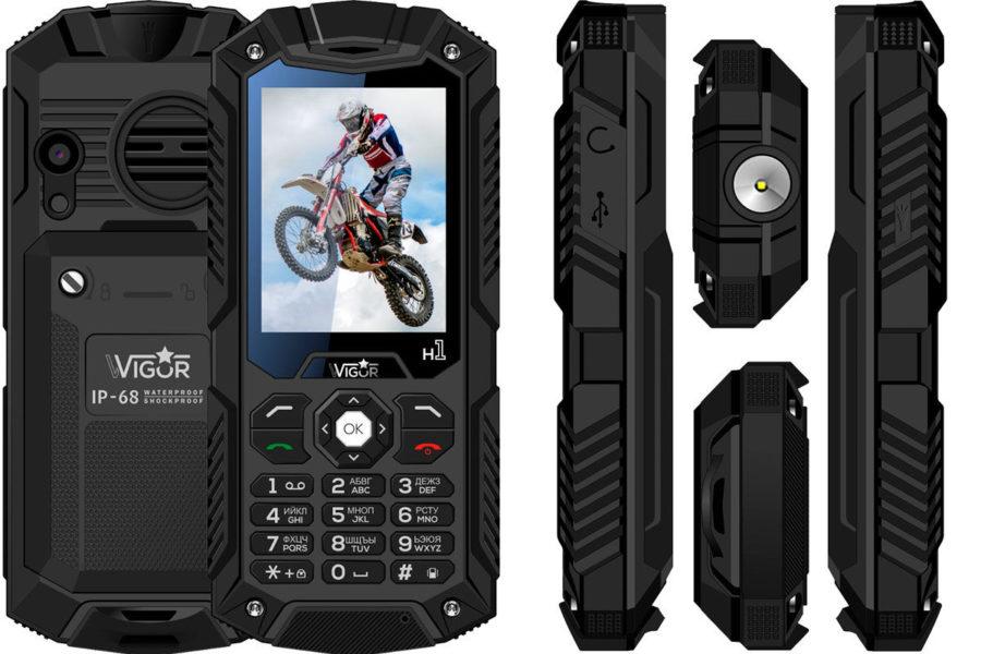 Хороший защищенный кнопочный телефон Wigor H1