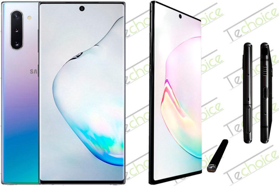 безрамочный телефон Samsung Galaxy Note10