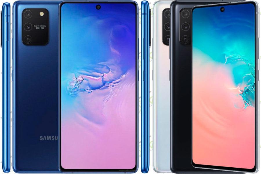 Безрамочный смартфон Samsung Galaxy S10 Lite